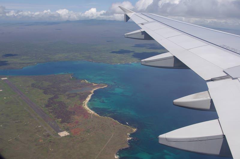 ガラパゴス諸島上空
