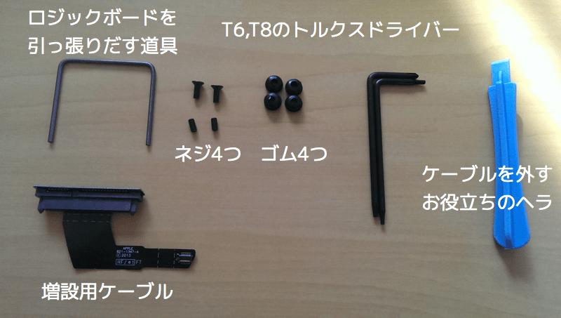 mac mini ssd 増設ケーブル 付属品