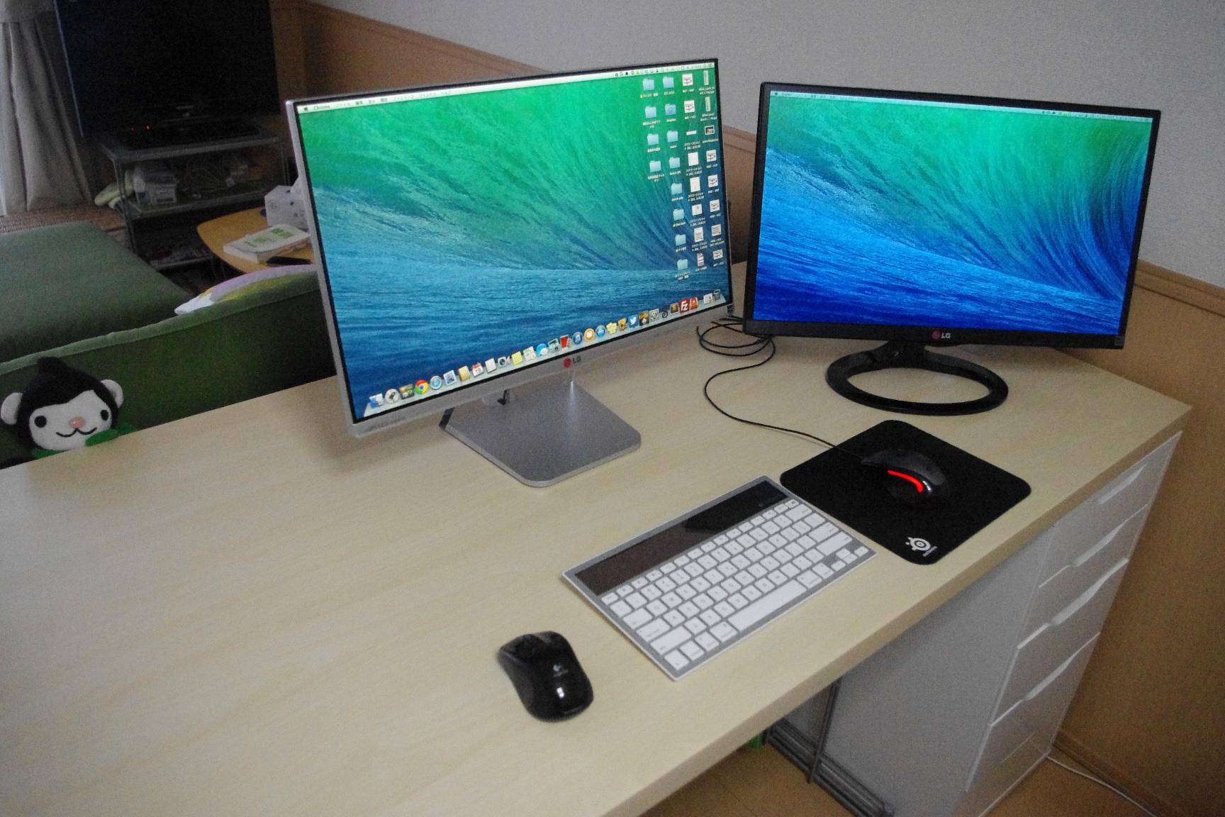 mac mini用 ikeaのパソコンデスク タビしるべ